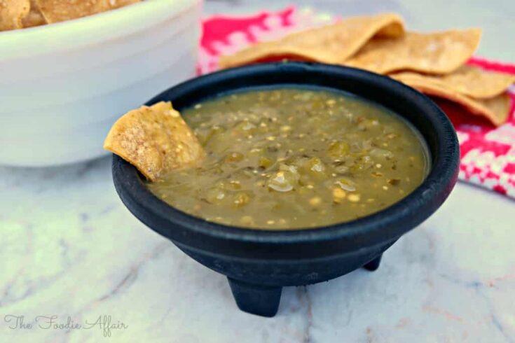 Tomatillo Green Chili Salsa For Mexican Dishes