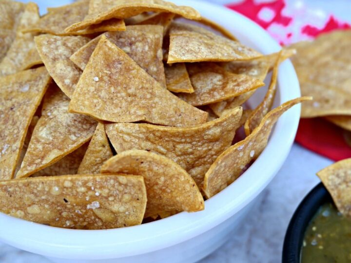 Homemade Baked Tortilla Chips Easy Healthy Recipe