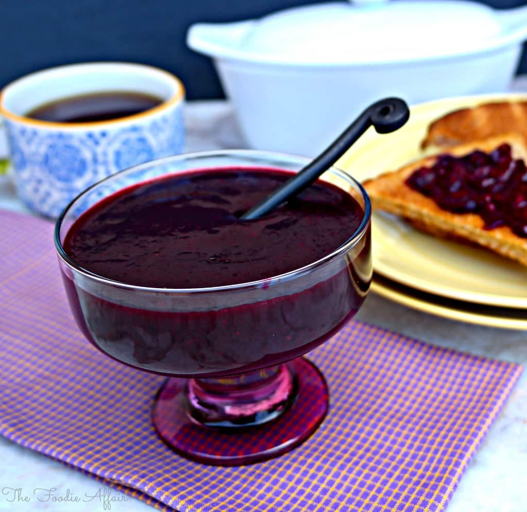 Berry Sauce made with a trio of fruits #sauce #strawberries #fruit | www.thefoodieaffair.com