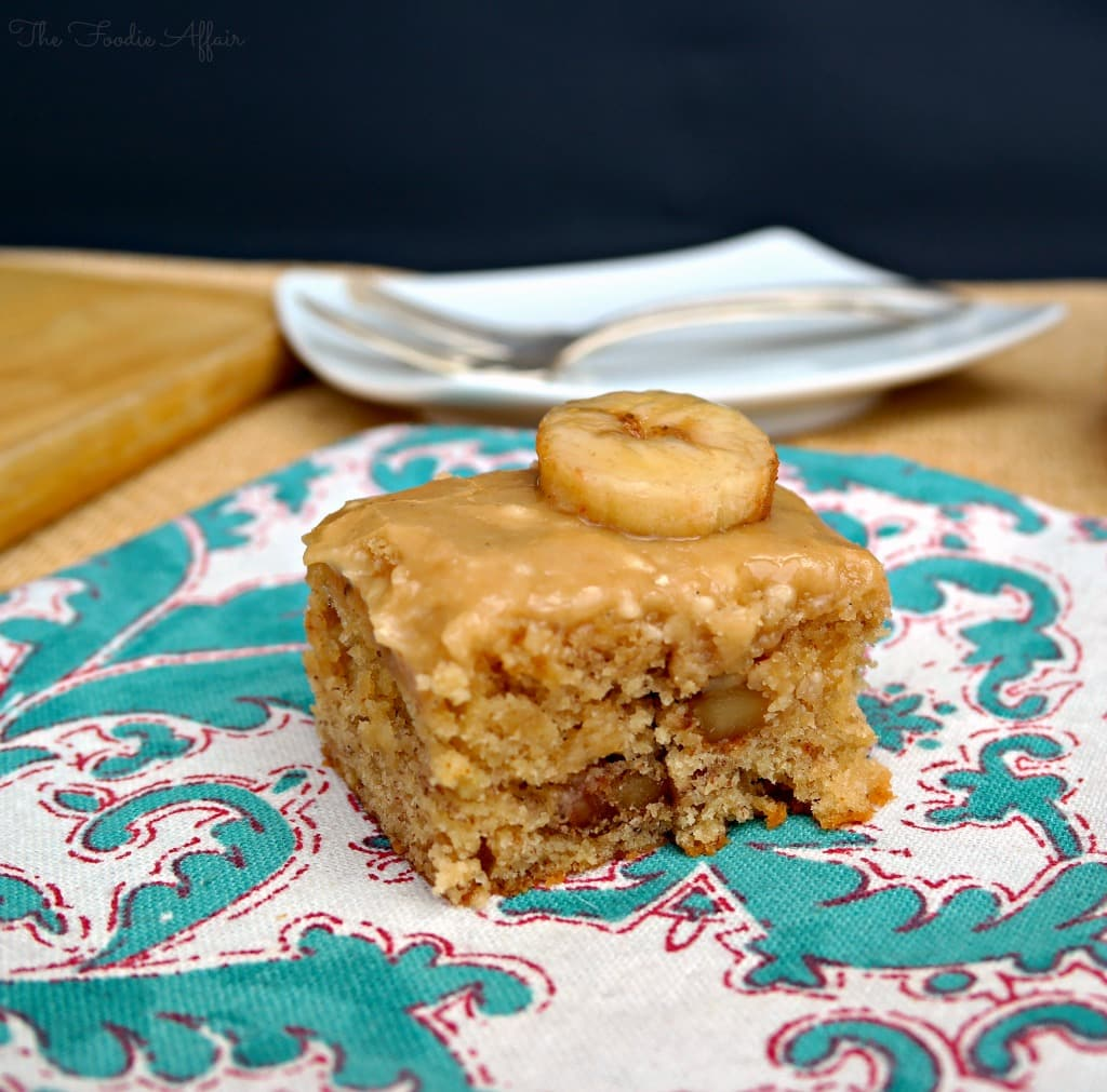 Browned Butter Banana Cake - The Foodie Affair