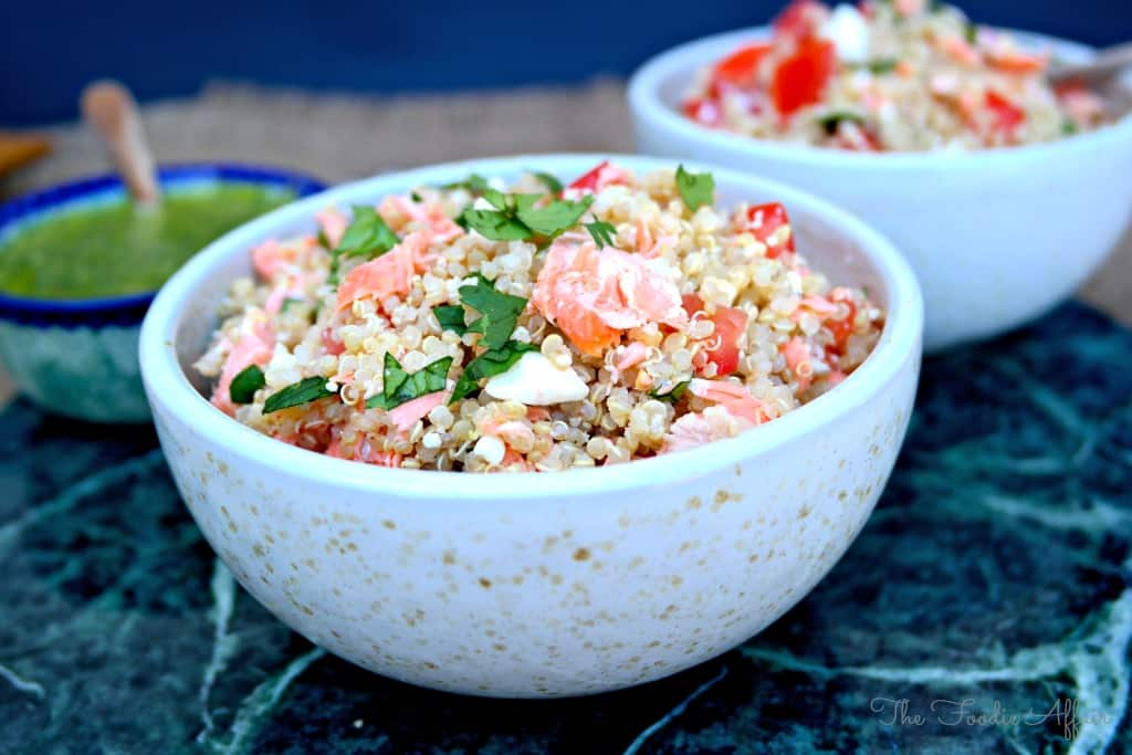 Quinoa Salmon Bowl - The Foodie Affair