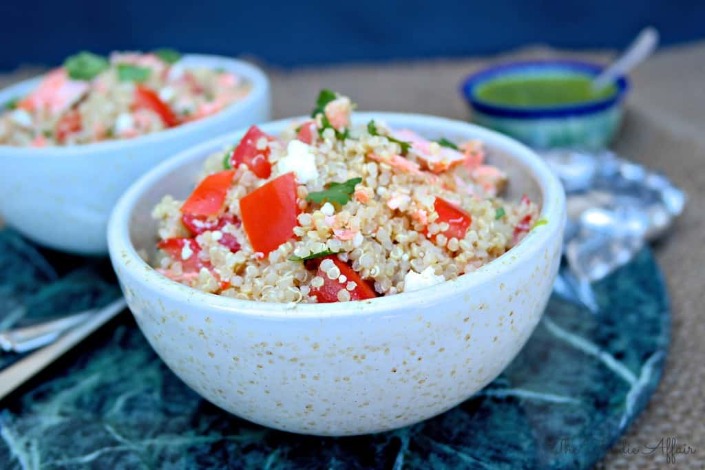 Quinoa Salmon Bowl - The Foodie Affair