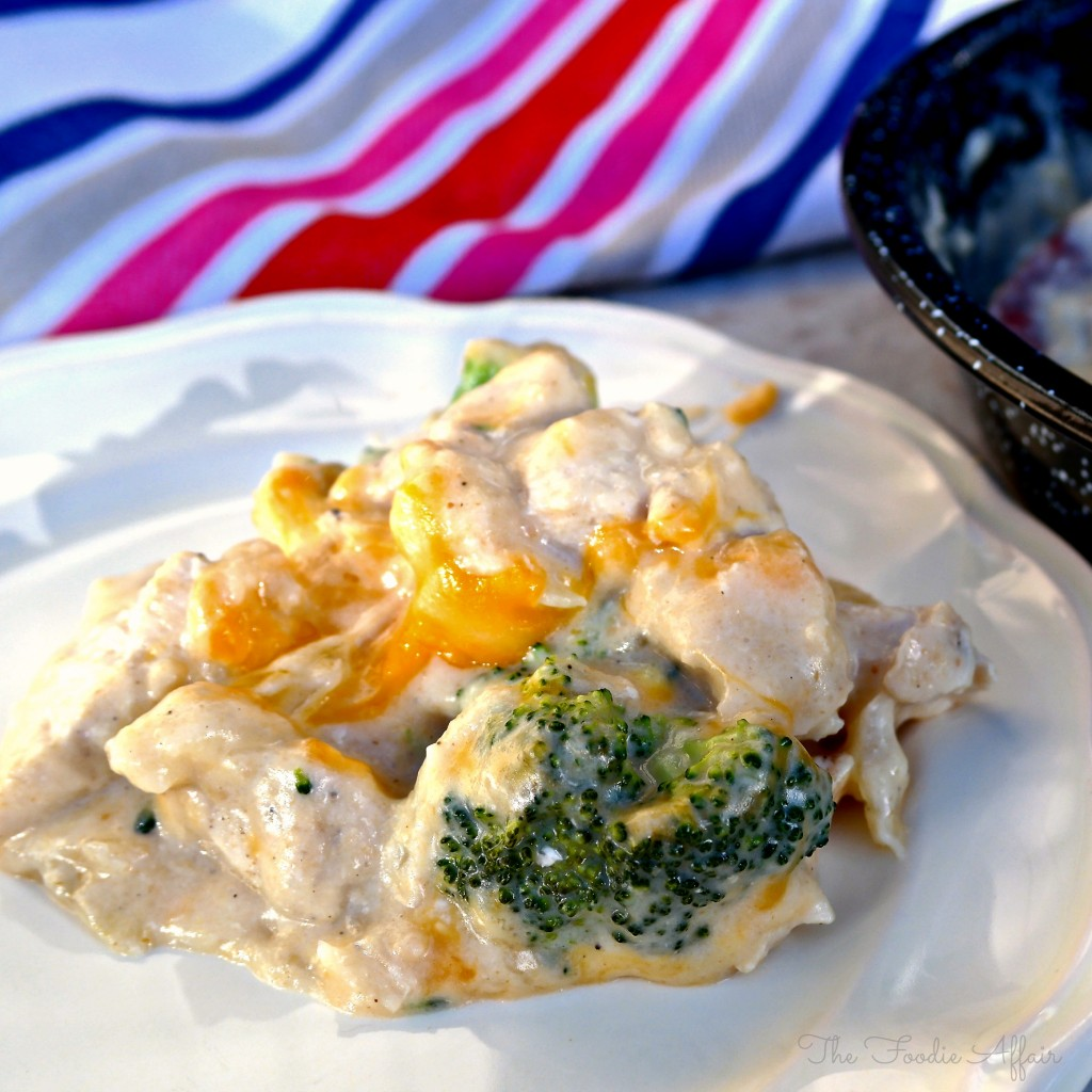 Cheesy Chicken and Broccoli Casserole - The Foodie Affair