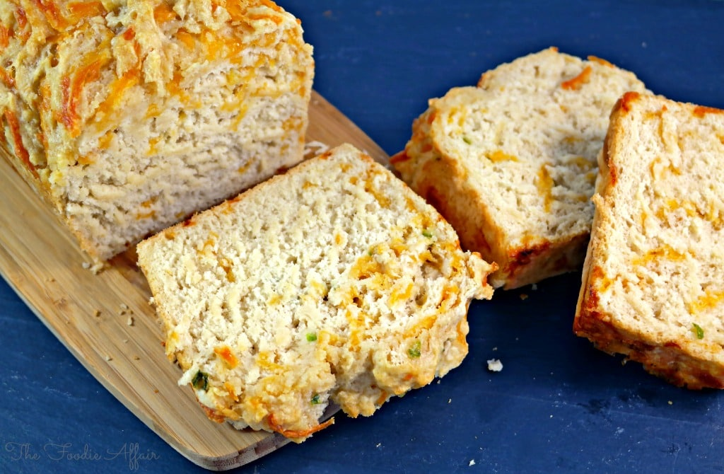 Cheddar Jalapeño Beer Bread - The Foodie Affair