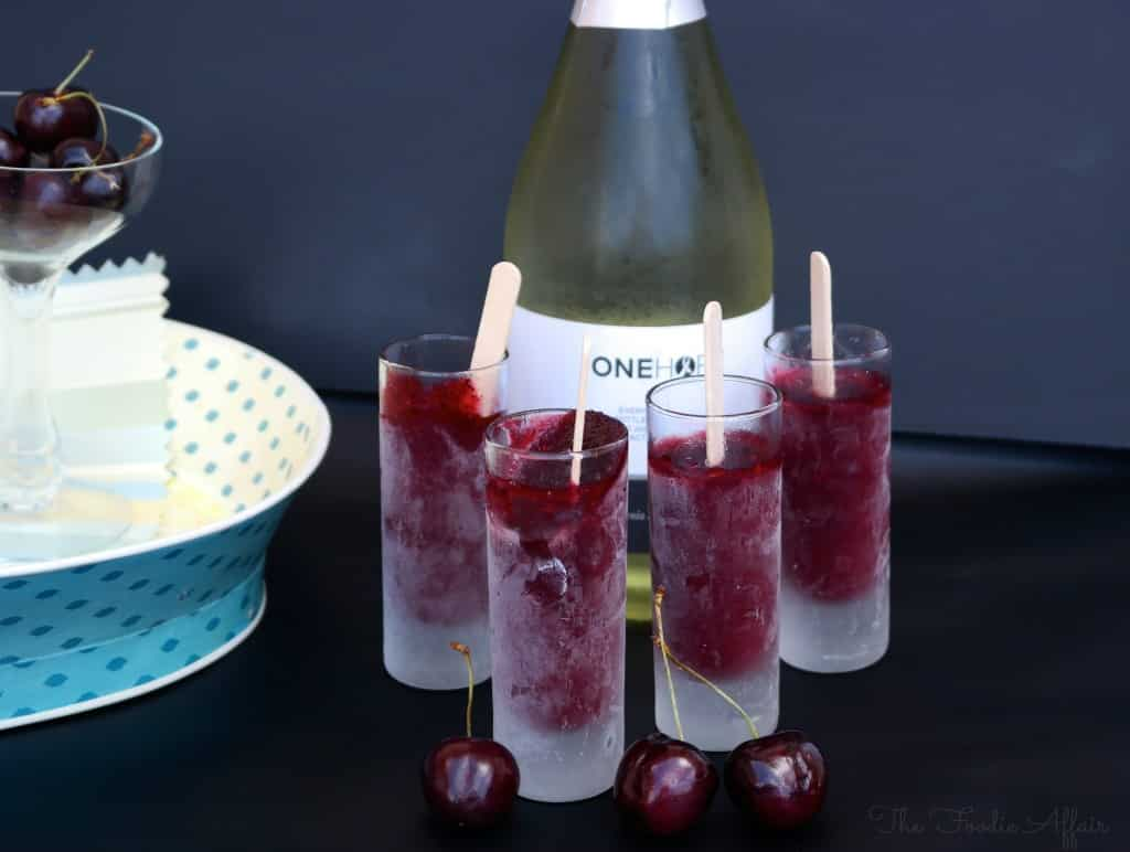 Cherry Limeade Popsicles - The Foodie Affair
