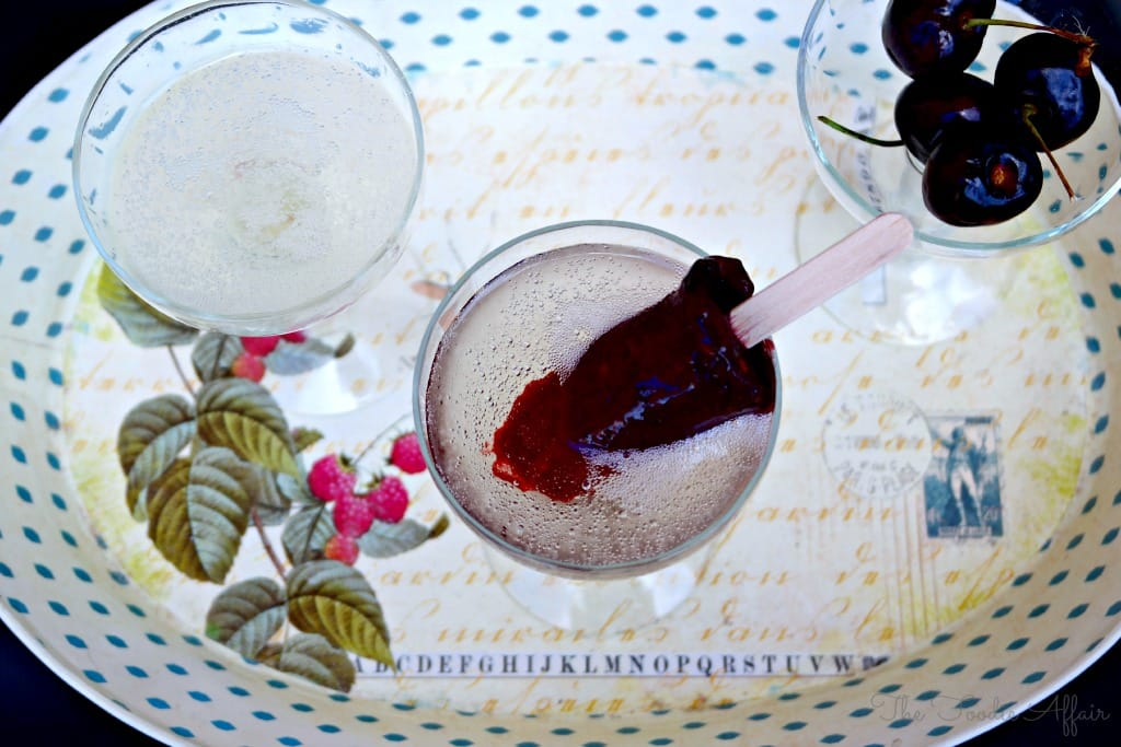 Cherry Limeade Popsicles - The Foodie Affair #popsicle #cherry #DIY #sparklingwine #onehopewine