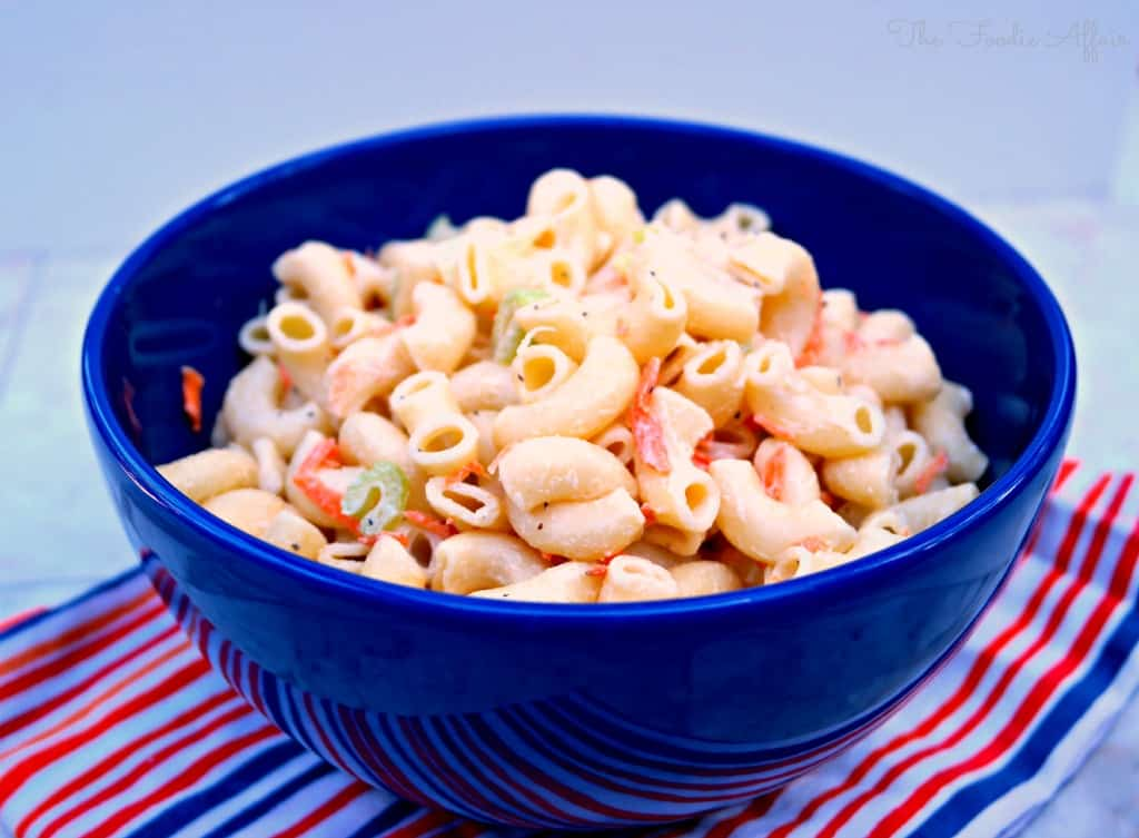Hawaiian Style Macaroni Salad Lightened Up - The Foodie Affair