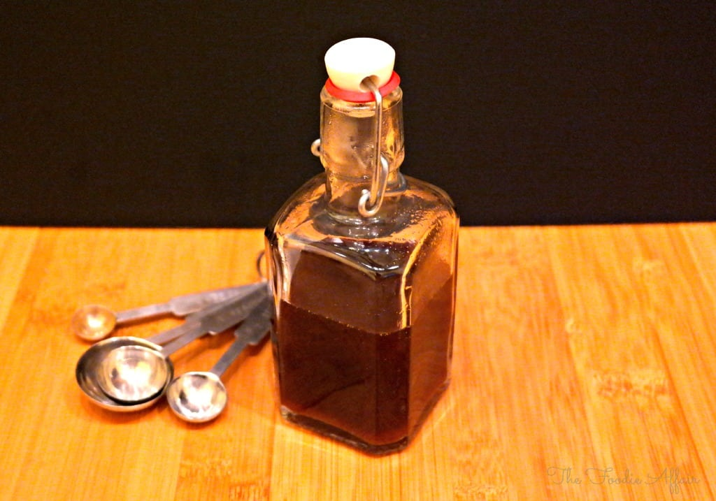 Vegan Worcestershire Sauce in a glass bottle