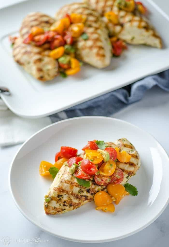 Grilled Chicken and Avocado Salsa