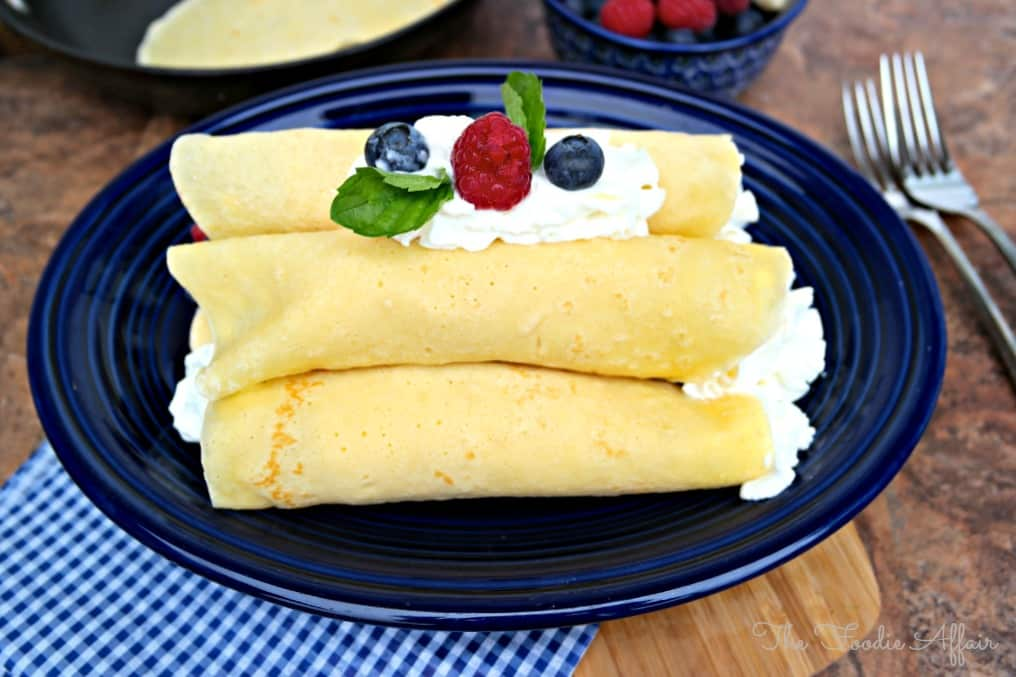 Basic Crepe Recipe - The Foodie Affair #crepes #brunch #breakfast #recipe #easy #french