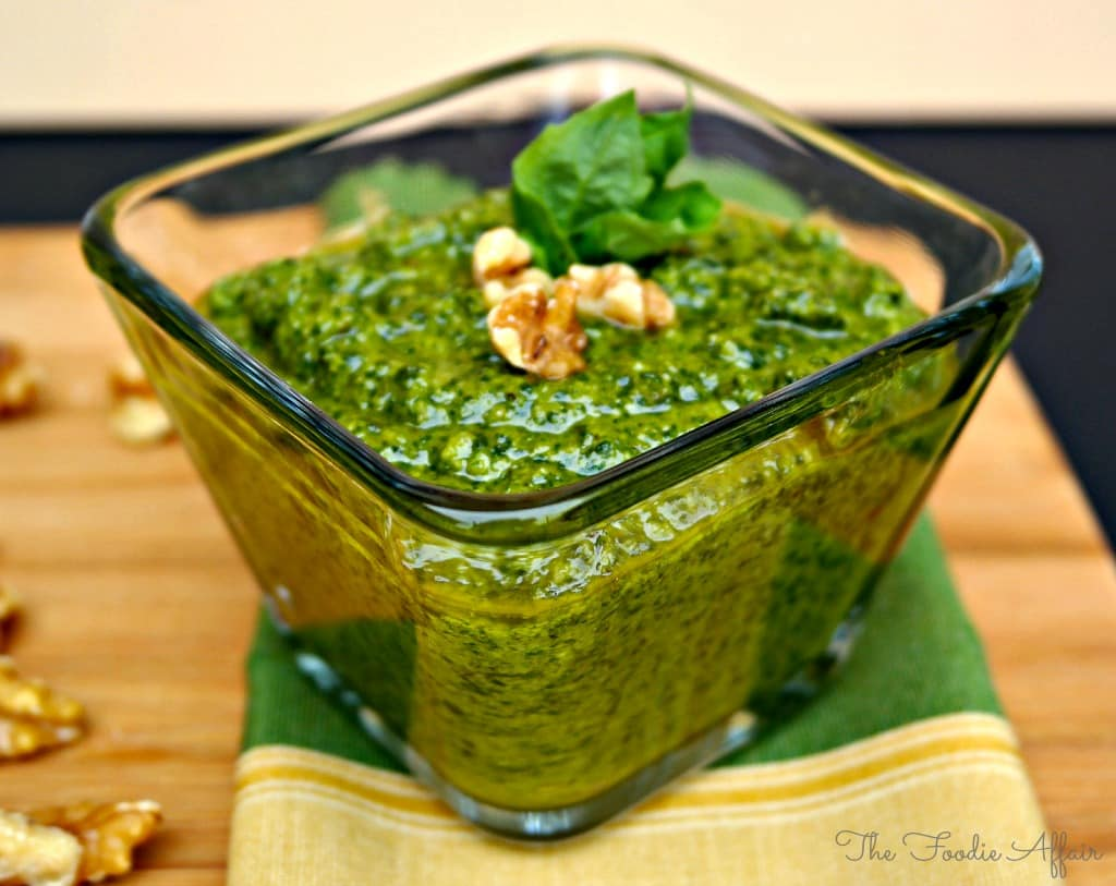 Basil Pesto with Walnuts - The Foodie Affair