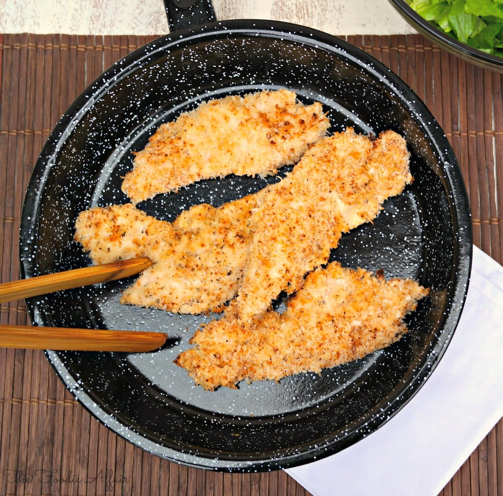 Baked Chicken Tenders in a baking pan