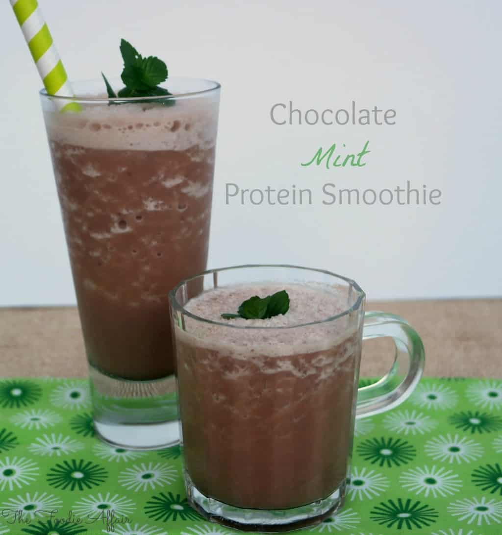 Chocolate Mint Protein Smoothie