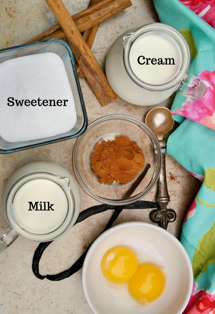 Ingredients needed to make cinnamon ice cream