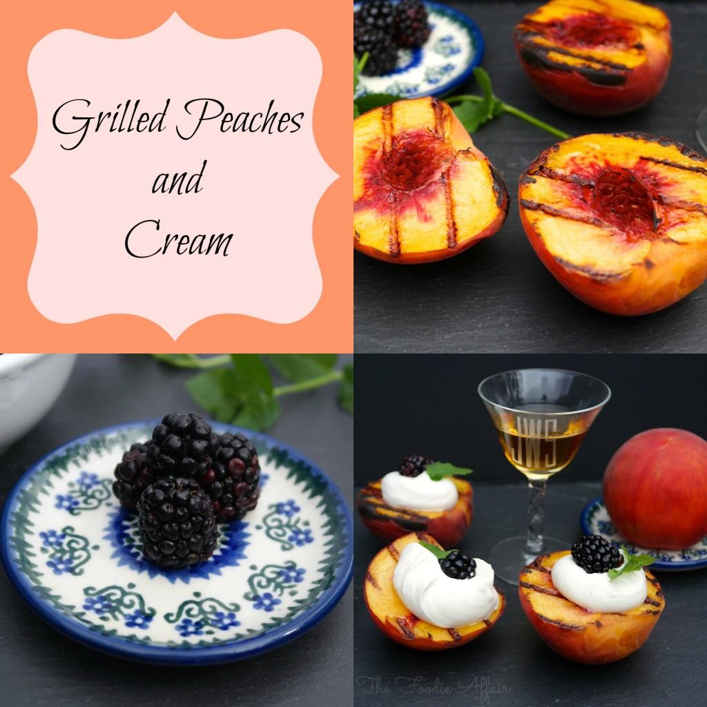 Grilled Peaches and Yogurt Cream - The Foodie Affair