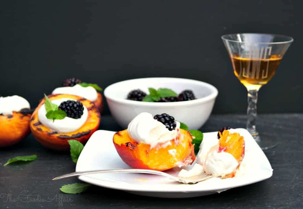 Grilled Peaches and Cream - The Foodie Affair