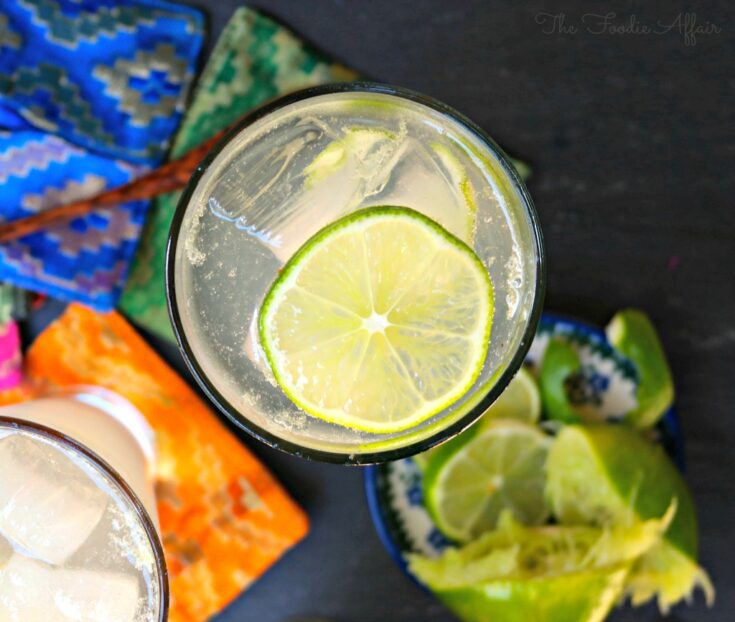 Moscow Mule Cocktail with lime