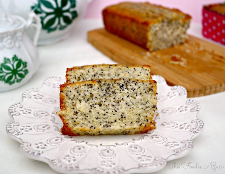 Almond Poppy Seed Bread - The Foodie Affair
