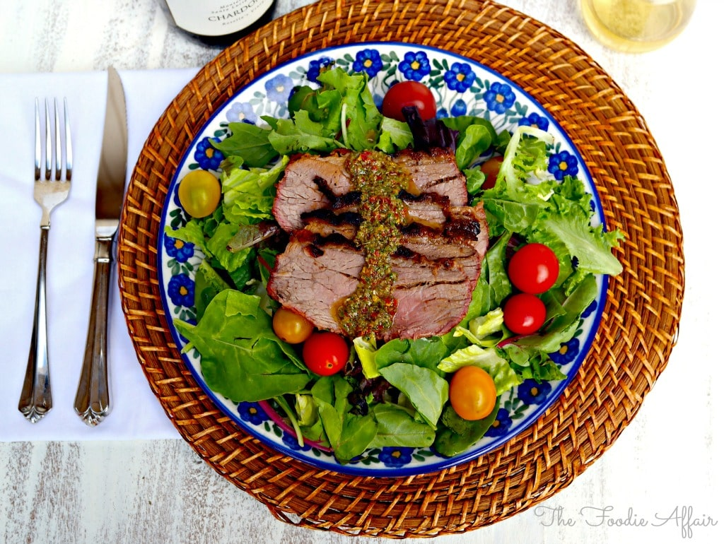 Chimichurri Steak Salad - The Foodie Affair