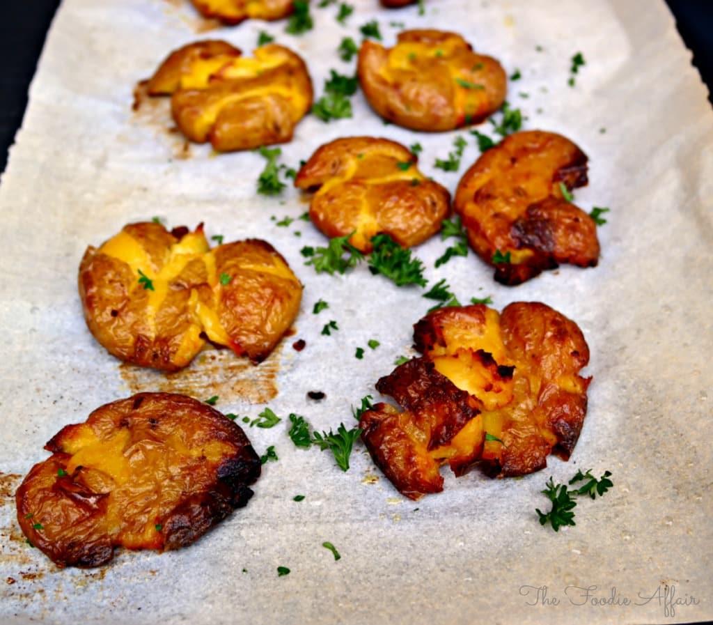 Crispy Smashed Potatoes - The Foodie Affair