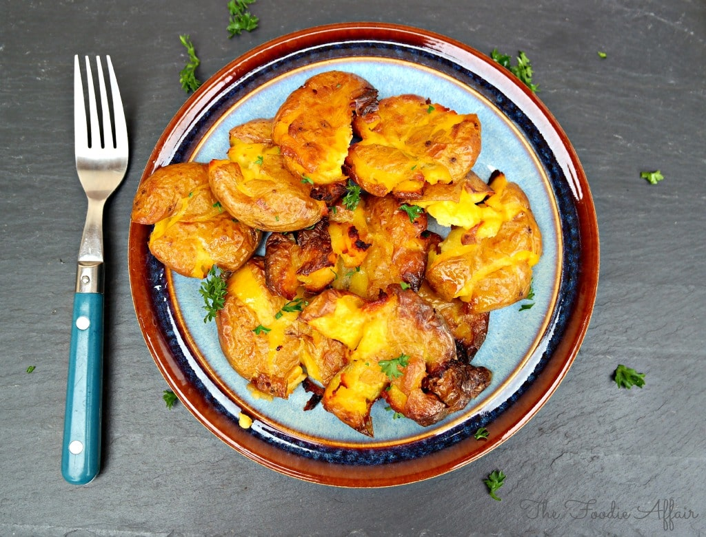 Crispy Smashed Potatoes - The Foodie Affair