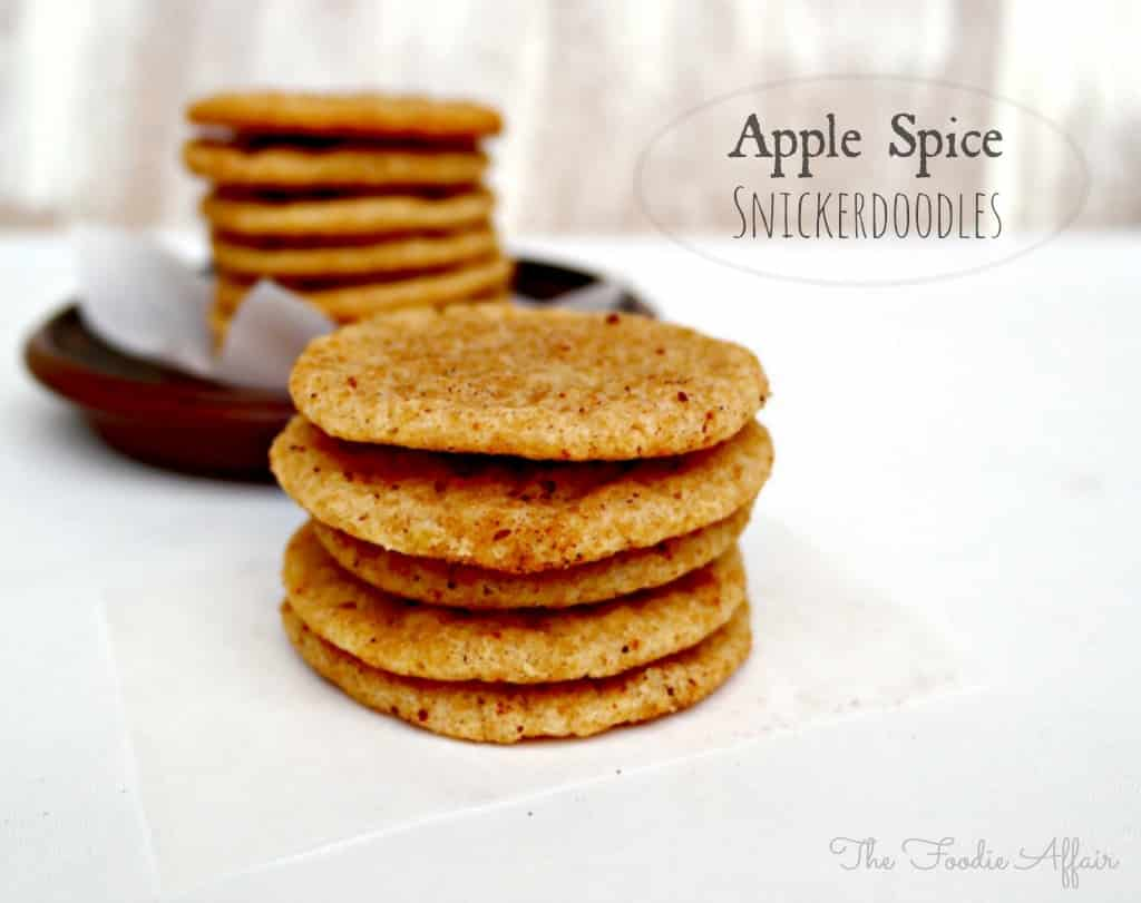 Apple Spice Snickerdoodles - The Foodie Affair