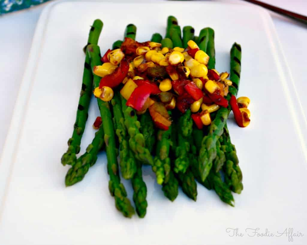 Asparagus with Sautéed Veggies - The Foodie Affair