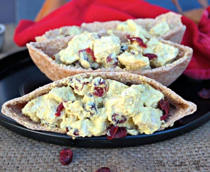Curried Chicken Pita Sandwich - The Foodie Affair