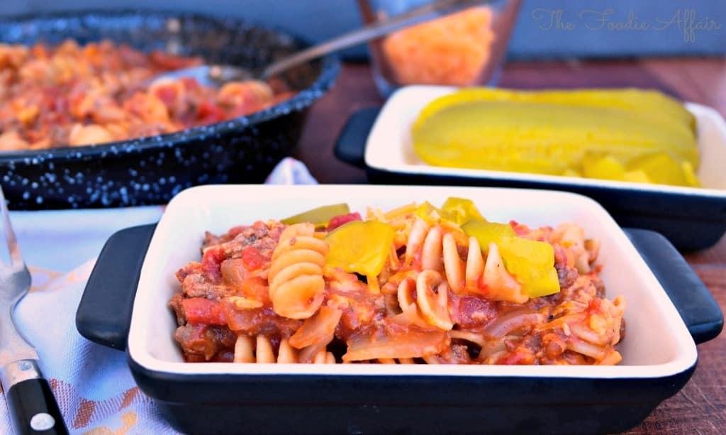 Cheeseburger Pasta Skillet - The Foodie Affair