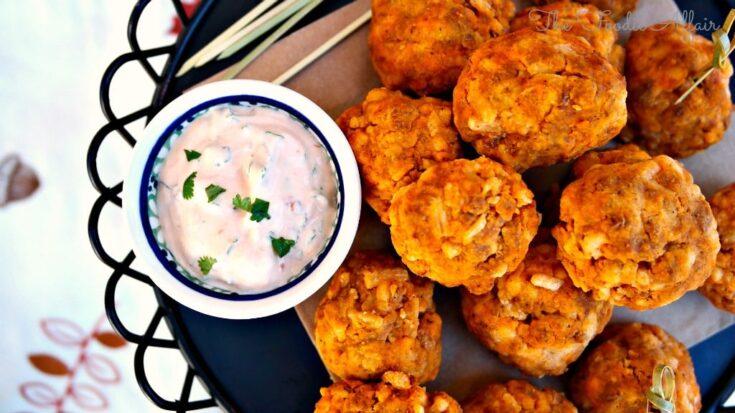 Soy Chorizo Cheddar Balls - The Foodie Affair