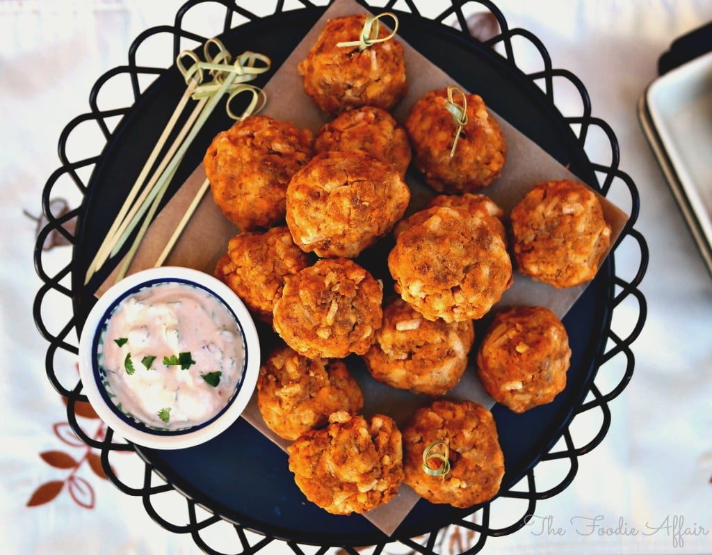Soy Chorizo Cheddar Balls - The Foodie Affair