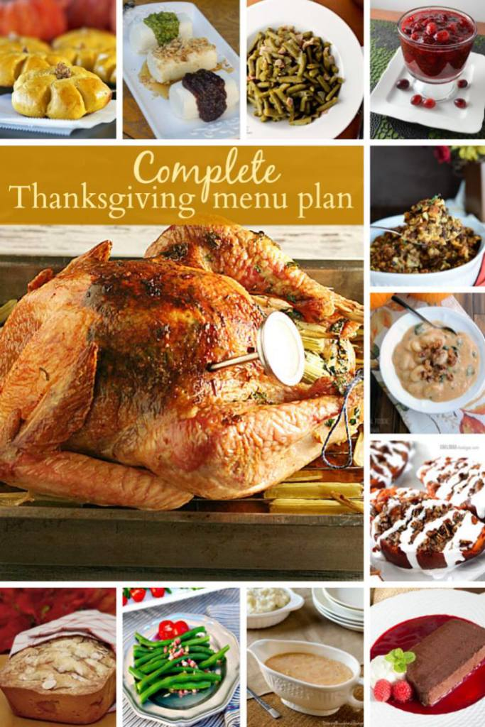 Thanks giving Menu Plan