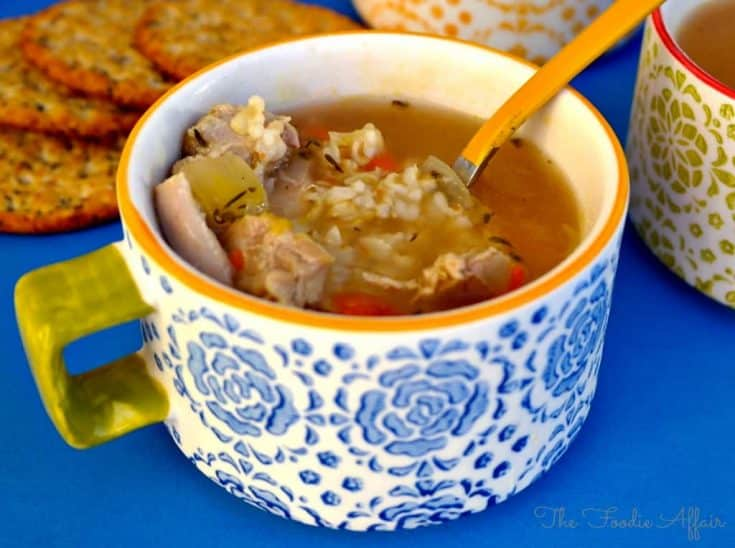 Easy Turkey Rice Soup Recipe
