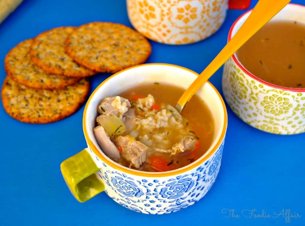 Turkey Rice Soup - The Foodie Affair