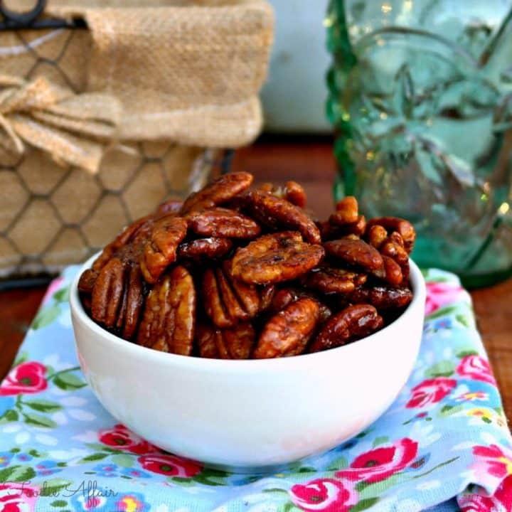 Maple Glazed Pecans - The Foodie Affair