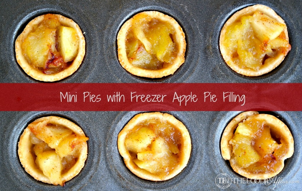 Freezer Apple Pie filling ready to bake one delicious pie or make mini pies! - The Foodie Affair