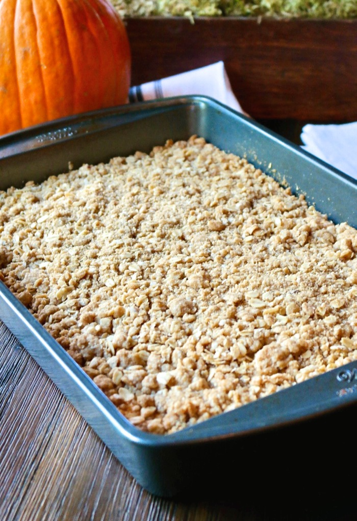 coffee cake made with sweet potatoes in a baking pan