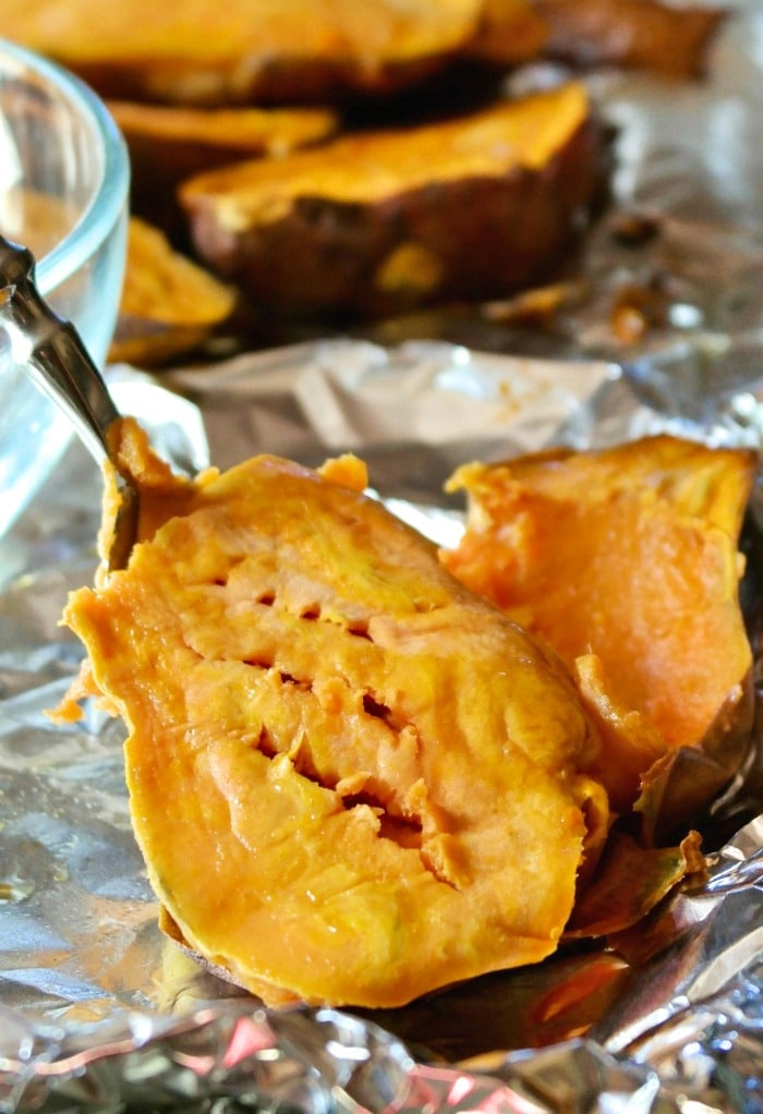 tender baked sweet potatoes