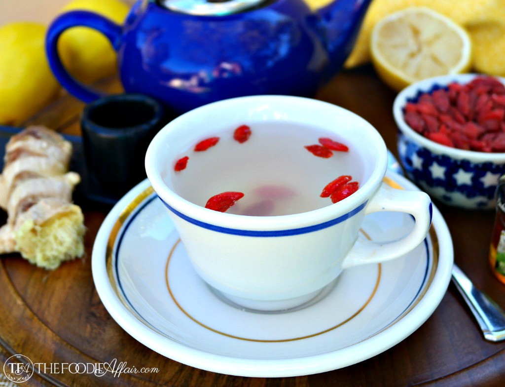 Lemon Ginger Detox Drink In A Teacup