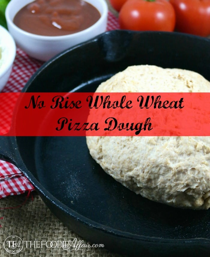 Whole Wheat Pizza Dough! This fuss-free crust is made with white whole ...