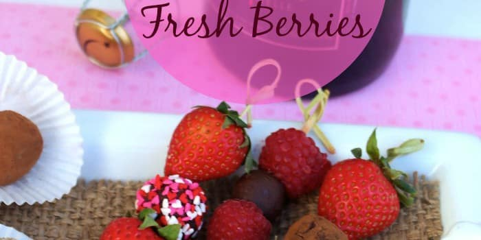 Chocolate Truffles with fresh berries for Valentine's Day !