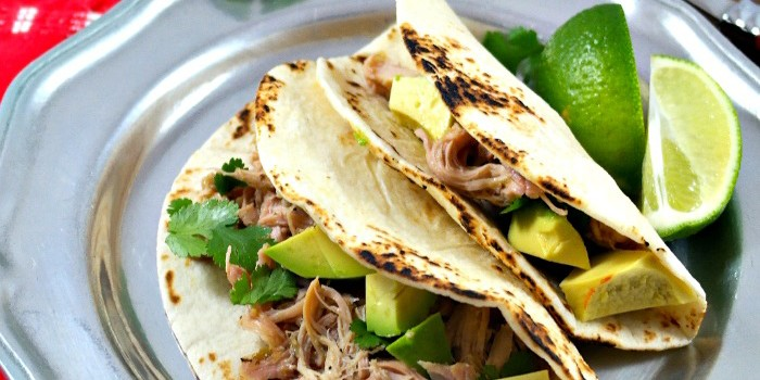 Slow Cooker Salsa Verde Chicken Tacos - The Foodie Affair