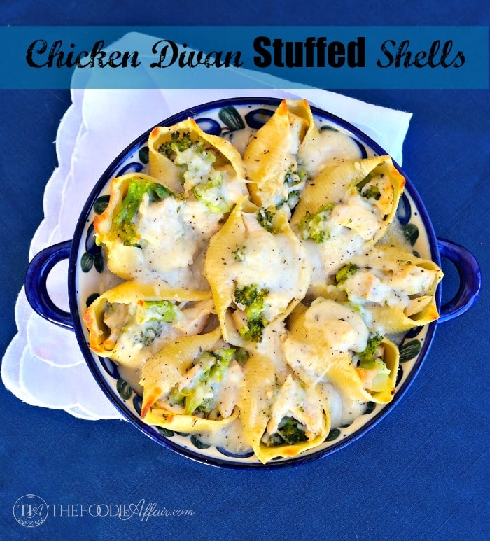 Chicken Divan Stuffed Shells in Dijon Sauce - The Foodie Affair
