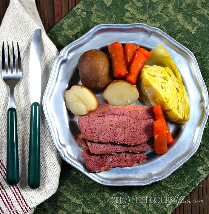 Corned beef cabbage slow cooked! This is an easy and delicious way to serve a traditional Irish dish! - The Foodie Affair