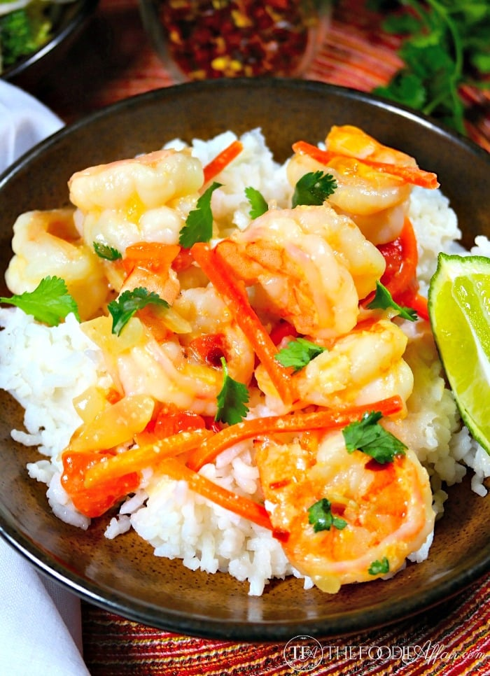 Shrimp in Coconut Sauce with cilantro and tomatoes! This flavorful ...