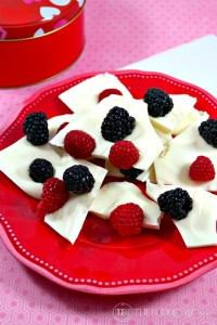 Fresh Berry White Chocolate Bark - The Foodie Affair