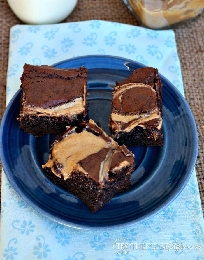 Peanut Butter Brownies - The Foodie Affair