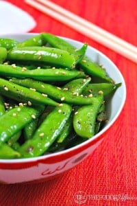 Perfectly Seasoned Sugar Snap Peas - The Foodie Affair