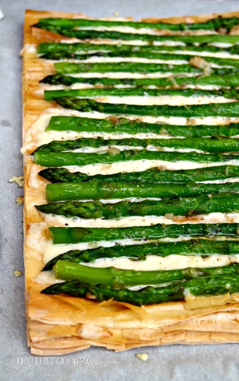 Asparagus Fontina Tart - The Foodie Affair