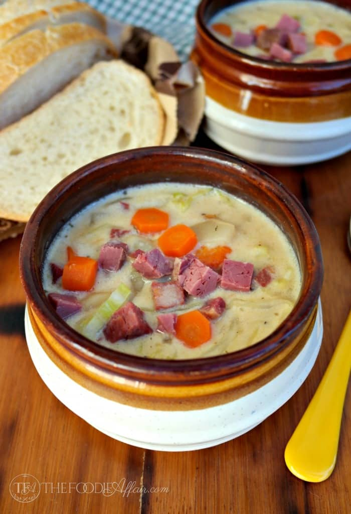 Corned beef and Cabbage Chowder from Leftovers